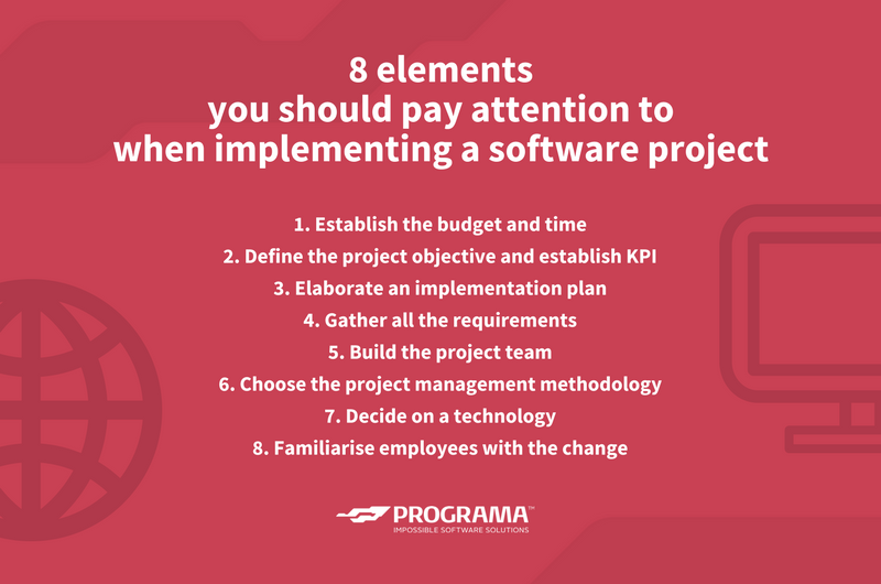 8 most important elements while implementing a software projects