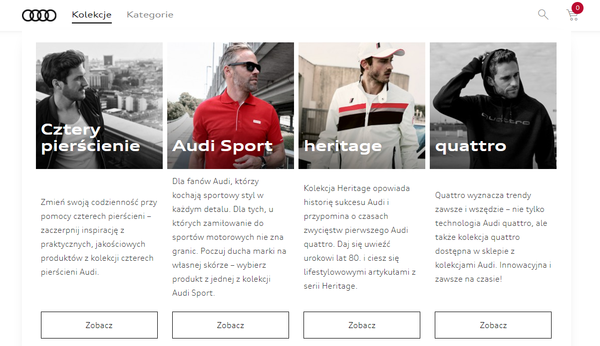 audi online store made by Programa software house